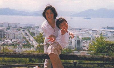 写真、海息子と一緒