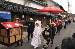 写真、中津井雛祭り