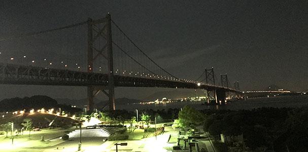 写真、瀬戸大橋夜景
